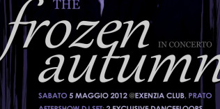 Flyer The Frozen Autumn live